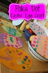 Polka Dot Easter Egg Craft