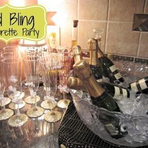 Gold Bling Bachelorette Party