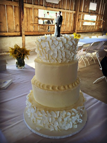 Joe and Andrea Wedding Cake