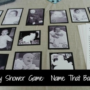 Baby Shower Game :: Name That Baby!