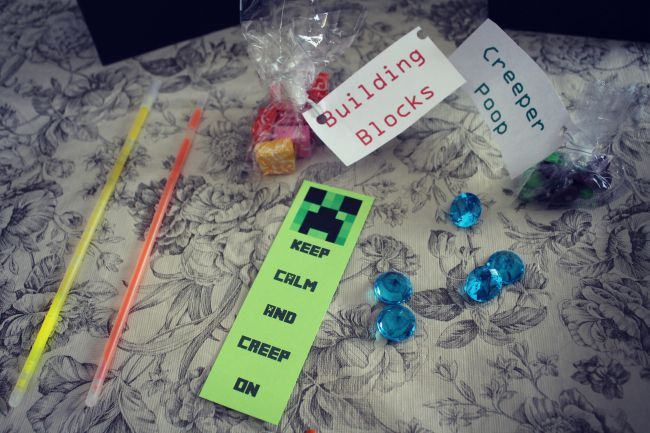Minecraft Birthday Party Goodie Bag Contents