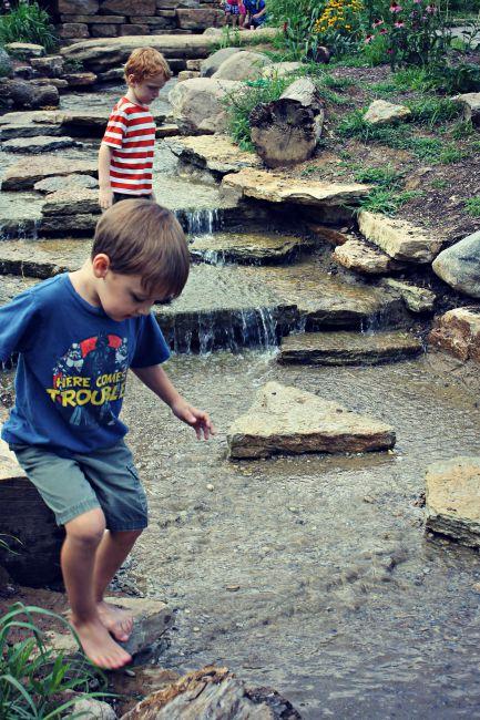 Cincinnati Nature Center Creek boys