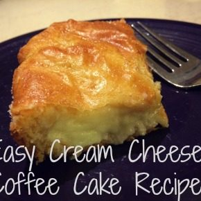 Easy Cream Cheese Coffee Cake Recipe